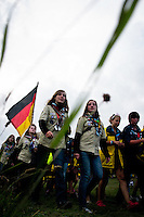 German and Swedish scouts are parading to the closing ceremony. Photo: Fredrik Sahlström/Scouterna