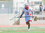 Palos Verdes, CA 03/26/16 - Josh Park (Palos Verdes #5) in action during the CIF Boys Lacrosse game between San Clemente Tritons and the Palos Verdes Seakings at Palos Verdes High School.  Palos Verdes defeated San Clemente 11-6