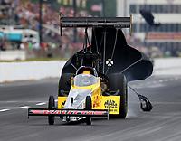 May 5, 2018; Commerce, GA, USA; NHRA top fuel driver Richie Crampton during qualifying for the Southern Nationals at Atlanta Dragway. Mandatory Credit: Mark J. Rebilas-USA TODAY Sports