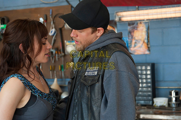 """Maggie Siff & Charlie Hunnam.in Sons Of Anarchy (Series 4, Episode 9, """"Kiss"""").*Filmstill - Editorial Use Only*.CAP/NFS.Supplied by Capital Pictures."""