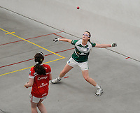 20th September 2014; <br /> Martina McMahon in action.<br /> M Donnelly All-Ireland Ladies 60x30 Handball Singes Final<br /> Catriona Casey (Cork) v Martina McMahon (Limerick) . <br /> Abbeylara, Co Longford<br /> Picture credit: Tommy Grealy/actionshots.ie