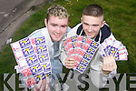 WINNING BIG: Peter OBrien from Rathoonane and Ethan Byrne from Shanakill have had huge wins with the Polio and Conquer Cancer scratch cards on sale in Hynes shop in Shanakill, Tralee. .