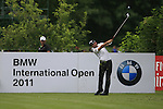 John Parry (ENG) tees off on the par3 8th tee during Day 1 of the BMW International Open at Golf Club Munchen Eichenried, Germany, 23rd June 2011 (Photo Eoin Clarke/www.golffile.ie)