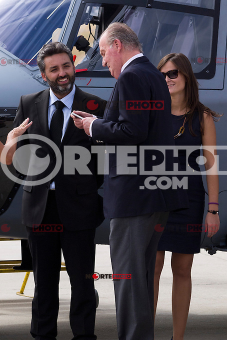 17.09.2012. King Juan Carlos of Spain attends a Helicopter NH-90 flight in Cuatro Vientos Air Base, Madrid. In the image King Juan Carlos of Spain (Alterphotos/Marta Gonzalez) /NortePhoto<br /> <br />  **CREDITO*OBLIGATORIO** *No*Venta*A*Terceros*<br /> *No*Sale*So*third* ***No*Se*Permite*Hacer Archivo***No*Sale*So*third*