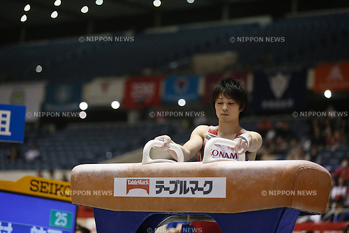 Kohei Uchimura, APRIL 24, 2015 - Artistic Gymnastics : The 69th All Japan Gymnastics Championship Men's Individual All-Around Pommel Horse at 1st Yoyogi Gymnasium, Tokyo, Japan. (Photo by Sho Tamura/AFLO SPORT) [1180]