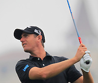 Nicolas Colsaerts (BEL) tees off the 15th tee during Friday's Round 2 of the 2014 BMW Masters held at Lake Malaren, Shanghai, China 31st October 2014.<br /> Picture: Eoin Clarke www.golffile.ie