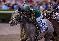 HALLANDALE BEACH, FL - JANUARY 27: Jordan's Henny with Tyler Gaffalione win the Hurricane Bertie Stakes at Gulfstream Park Race Track on January 27, 2018 in Hallandale Beach, Florida. (Photo by Alex Evers/Eclipse Sportswire/Getty Images)