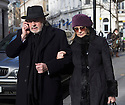 Pic shows: Twiggy with Husband Leigh Lawson<br /> <br /> <br /> Funeral of Roger Lloyd-Pack - &quot;Trigger&quot; from Only Fools and Horses.<br /> <br /> Mourners arriving at the service at Actors Church in Covent Garden -<br /> <br /> <br /> <br /> <br /> Pic by Gavin Rodgers/Pixel 8000 Ltd
