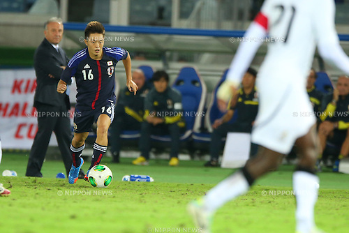 Manabu Saito (JPN),<br /> SEPTEMBER 10, 2013 - Football / Soccer :<br /> Kirin Challenge Cup 2013 match between Japan 3-1 Ghana at Nissan Stadium in Kanagawa, Japan. (Photo by Kenzaburo Matsuoka/AFLO)