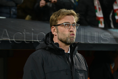 18.02.2016. Augsburg, Germany. UEFA Europa League football. Augsburg versus Liverpool FC.  Jurgen Klopp (Trainer FC Liverpool)