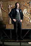 Milano, 2006,Teatro Alla Scala, Riccardo Chailly davanti alle scenografie dell'Aida; Milan, Alla Scala Theatre, Riccardo Chailly in front of Aida sceneries