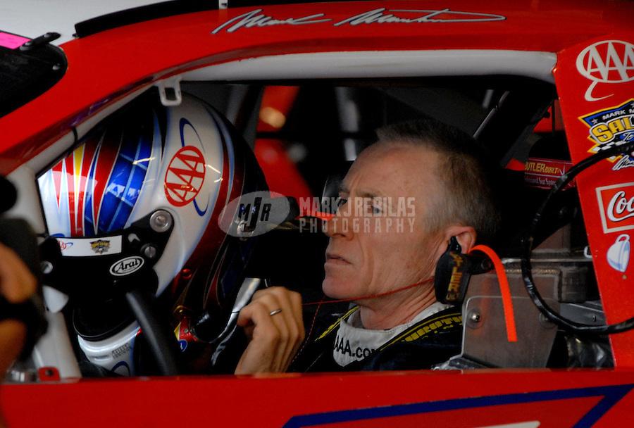 Sept. 30, 2006; Kansas City, KS, USA; Nascar Nextel Cup driver Mark Martin (6) during practice for the Banquet 400 at Kansas Speedway. Mandatory Credit: Mark J. Rebilas.
