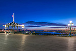 Canada, Quebec, Quebec City, Dufferin Terrace Dawn