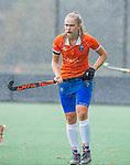 BLOEMENDAAL - Michelle van der Drift (Bldaal)  tijdens de oefenwedstrijd  dames  Bloemendaal-Pinoke.  COPYRIGHT KOEN SUYK