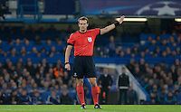 Referee Pavel Kralovec (CZE) during the UEFA Champions League Group G match between Chelsea and Dynamo Kyiv at Stamford Bridge, London, England on 4 November 2015. Photo by Andy Rowland.