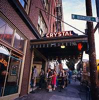 the McMenamins Crystal Ballroom is a landmark live music venue in Portland Oregon