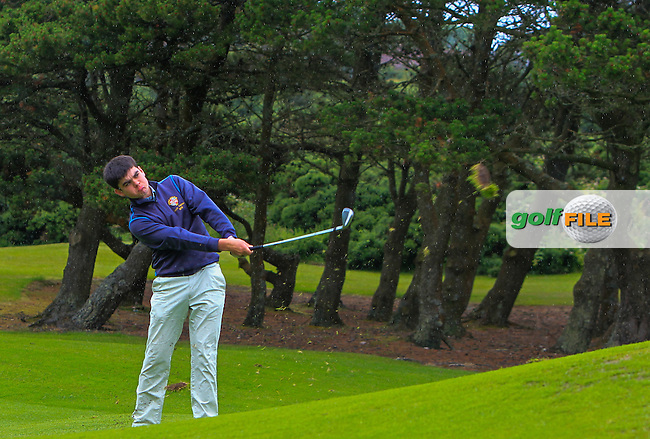 Ciaran Vaughan (Limerick) on the 8th fairway during Round 3 of the 2016 Connacht U18 Boys Open, played at Galway Golf Club, Galway, Galway, Ireland. 07/07/2016. <br /> Picture: Thos Caffrey | Golffile<br /> <br /> All photos usage must carry mandatory copyright credit   (&copy; Golffile | Thos Caffrey)