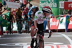 Tadej Pogacar (SLO) UAE Team Emirates crosses the finish line at the end of Stage 6 of La Vuelta 2019 running 198.9km from Mora de Rubielos to Ares del Maestrat, Spain. 29th August 2019.<br /> Picture: Colin Flockton | Cyclefile<br /> <br /> All photos usage must carry mandatory copyright credit (© Cyclefile | Colin Flockton)
