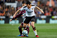 1st February 2020; Mestalla, Valencia, Spain; La Liga Football,Valencia versus Celta Vigo; Dani Parejo of Valencia CF takes on Rafinha of Celta