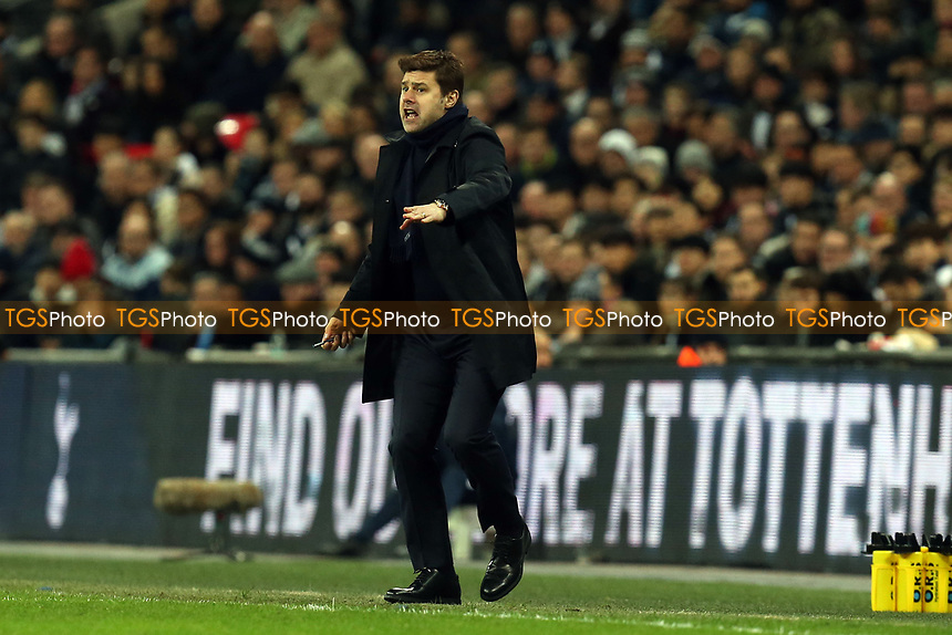 Tottenham Hotspur manager Mauricio Pochettino during Tottenham Hotspur vs Manchester United, Premier League Football at Wembley Stadium on 13th January 2019