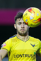 George Baldock of Oxford United during the Sky Bet League 2 match between Wycombe Wanderers and Oxford United at Adams Park, High Wycombe, England on 19 December 2015. Photo by Andy Rowland.