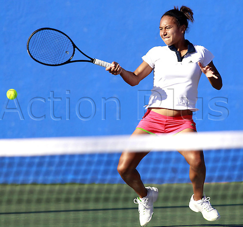 02.02.2011 Tennis ITF Fed Cup Switzerland v Great Britain, Europe/Africa Zone from Eilat in Israel. Picture shows Heather Watson GBR.