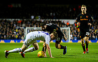 Leeds United's Jack Clarke battles with Hull City's Jon Toral<br /> <br /> Photographer Alex Dodd/CameraSport<br /> <br /> The EFL Sky Bet Championship - Leeds United v Hull City - Saturday 29th December 2018 - Elland Road - Leeds<br /> <br /> World Copyright © 2018 CameraSport. All rights reserved. 43 Linden Ave. Countesthorpe. Leicester. England. LE8 5PG - Tel: +44 (0) 116 277 4147 - admin@camerasport.com - www.camerasport.com