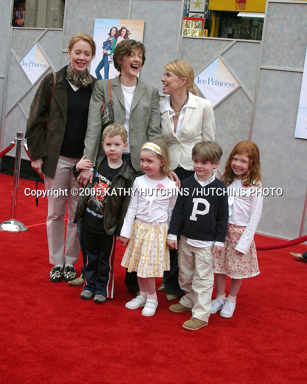 """JOAN CUSACK AND SON MILES.ANN CUSACK .FRIENDS.PREMIERE OF """"ICE PRINCESS"""".EL CAPITAN THEATER.HOLLYWOOD, CA.MARCH 13, 2005.©2005 KATHY HUTCHINS /HUTCHINS PHOTO..."""