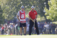 J.B. Holmes (Team USA) on the 2nd greenduring the Friday afternoon Fourball at the Ryder Cup, Hazeltine national Golf Club, Chaska, Minnesota, USA.  30/09/2016<br /> Picture: Golffile | Fran Caffrey<br /> <br /> <br /> All photo usage must carry mandatory copyright credit (&copy; Golffile | Fran Caffrey)