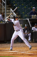 Jacksonville Suns left fielder Austin Dean (3) at bat during a game against the Jackson Generals on May 4, 2016 at The Ballpark at Jackson in Jackson, Tennessee.  Jackson defeated Jacksonville 11-6.  (Mike Janes/Four Seam Images)