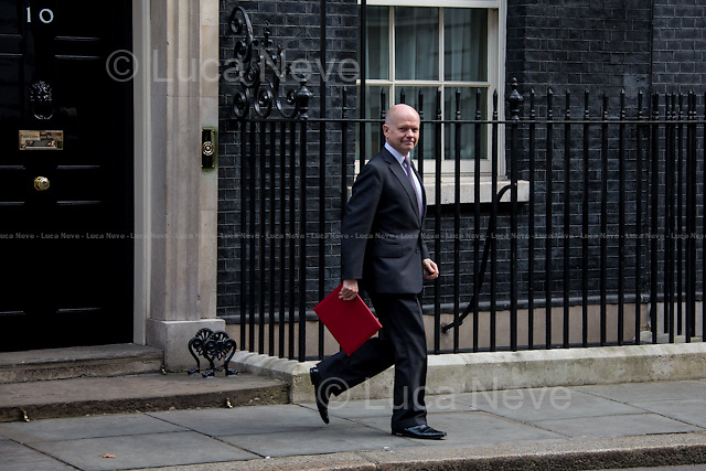 William Hague MP (First Secretary of State, Leader of the House of Commons).<br />