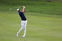 Adam Scott (AUS) plays his 2nd shot on the 3rd hole during Sunday's Final Round of the WGC Bridgestone Invitational 2017 held at Firestone Country Club, Akron, USA. 6th August 2017.<br /> Picture: Eoin Clarke | Golffile<br /> <br /> <br /> All photos usage must carry mandatory copyright credit (&copy; Golffile | Eoin Clarke)