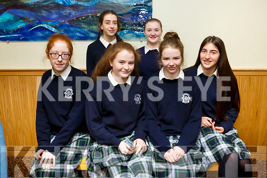 At the Transition Year St Brendan's Tenth annual Parish Day at Ballyroe Heights Hotel on Tuesday were Presentation Tralee, front l-r Rath O'Connell, Leah Canty, Katelyn Bunworth, Erin Moss, Back l-r Orla O'Brien and Brona Foley