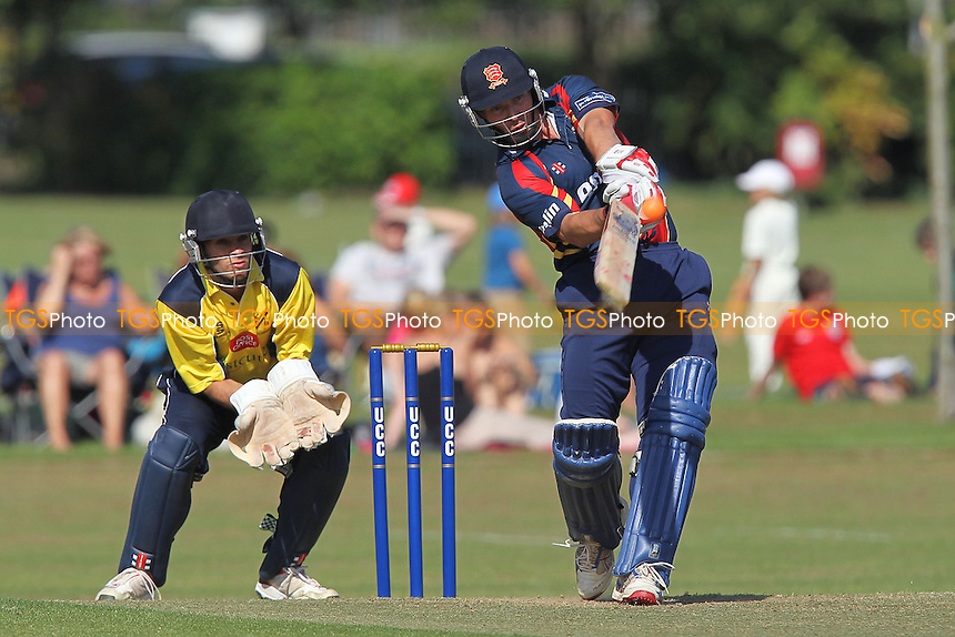 Graham Napier in batting action for Essex - Upminster CC vs Essex CCC - Graham Napier Benefit Match Cricket at Upminster Park - 09/09/12 - MANDATORY CREDIT: Gavin Ellis/TGSPHOTO - Self billing applies where appropriate - 0845 094 6026 - contact@tgsphoto.co.uk - NO UNPAID USE.