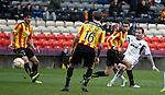 Ryan Stevenson scores the fourth goal for Hearts