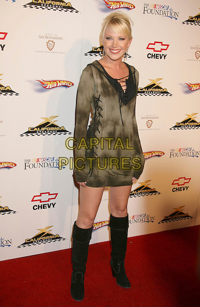 ADRIENNE FRANTZ.California Speedway's Running Wide Open held at Avalon Hollywood, Hollywood, California, USA..August 29th, 2007.full length black boots grey gray tie dye dress.CAP/ADM/RE.©Russ Elliot/AdMedia/Capital Pictures