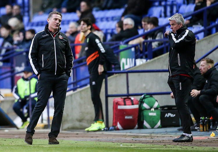Bolton Wanderers' manager Phil Parkinson pictured at the end of the match  <br /> <br /> Photographer Andrew Kearns/CameraSport<br /> <br /> The EFL Sky Bet Championship - Bolton Wanderers v Norwich City - Saturday 16th February 2019 - University of Bolton Stadium - Bolton<br /> <br /> World Copyright © 2019 CameraSport. All rights reserved. 43 Linden Ave. Countesthorpe. Leicester. England. LE8 5PG - Tel: +44 (0) 116 277 4147 - admin@camerasport.com - www.camerasport.com
