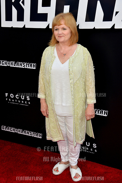"""Lesley Nicol at the Los Angeles premiere of """"BlacKkKlansman"""" at the Academy's Samuel Goldwyn Theatre, Beverly Hills, USA 08 Aug. 2018<br /> Picture: Paul Smith/Featureflash/SilverHub 0208 004 5359 sales@silverhubmedia.com"""