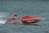 "Dan Joseph, F-10 ""Henry's Tenth"", 1952 Lauterbach 266 class hydroplane..2004 Madison Regatta, Madison, Indiana, July 4, 2004..F. Peirce Williams .photography.P.O.Box 455 Eaton, OH 45320.p: 317.358.7326  e: fpwp@mac.com."