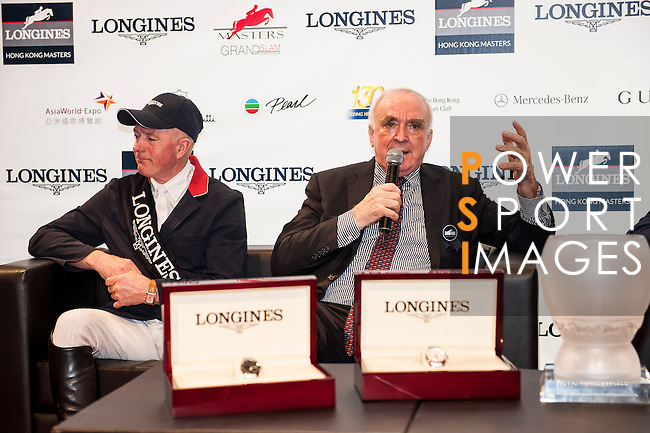 Riders in action at the Longines Grand Prix during the Longines Hong Kong Masters 2015 at the AsiaWorld Expo on 15 February 2015 in Hong Kong, China. Photo by Xaume Olleros / Power Sport Images