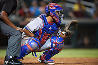 Surprise Saguaros Jose Trevino (13), of the Texas Rangers organization, during a game against the Salt River Rafters on October 21, 2016 at Salt River Fields at Talking Stick in Scottsdale, Arizona.  Salt River defeated Surprise 3-2.  (Mike Janes/Four Seam Images)