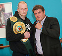 Gary Cornish with his next opponent, current English Heavyweight title holder, John McDermott.