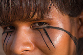 Xingu Indigenous Park, Mato Grosso State, Brazil. Aldeia Matipu; festival of Beja Flor (Phinya). Autamaco Matipu.