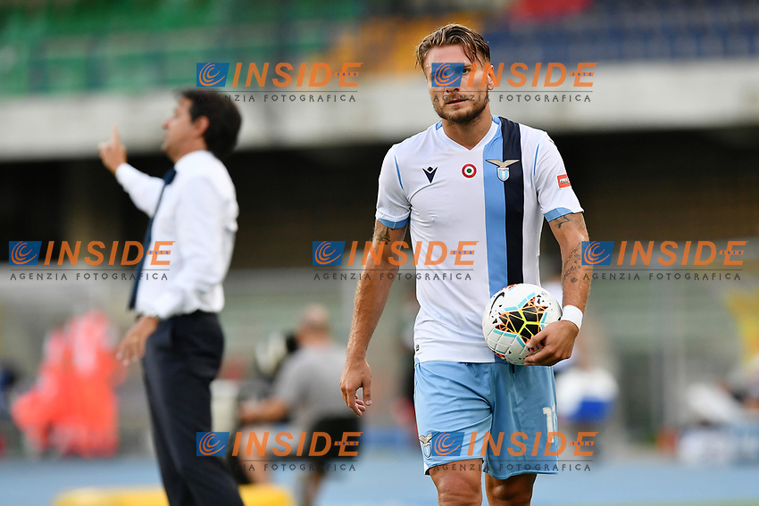 Ciro Immobile of SS Lazio during the Serie A football match between Hellas Verona and SS Lazio at stadio Marcantonio Bentegodi in Verona (Italy), July 26th, 2020. Play resumes behind closed doors following the outbreak of the coronavirus disease. <br /> Photo Daniele Buffa / Image Sport / Insidefoto