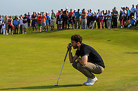 Gerard Dunne (Co. Louth) on the 16th green during Round 4 of the East of Ireland Amateur Open Championship sponsored by City North Hotel at Co. Louth Golf club in Baltray on Monday 6th June 2016.<br /> Photo by: Golffile   Thos Caffrey