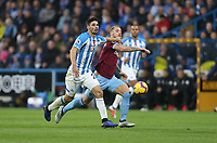 West Ham United's Marko Arnautovic and Huddersfield Town's Christopher Schindler<br /> <br /> Photographer Rob Newell/CameraSport<br /> <br /> The Premier League - Huddersfield Town v West Ham United - Saturday 10th November 2018 - John Smith's Stadium - Huddersfield<br /> <br /> World Copyright © 2018 CameraSport. All rights reserved. 43 Linden Ave. Countesthorpe. Leicester. England. LE8 5PG - Tel: +44 (0) 116 277 4147 - admin@camerasport.com - www.camerasport.com