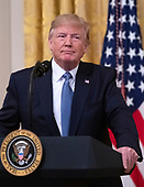 "United States President Donald J. Trump makes remarks on ""America's Environmental Leadership"" in the East Room of the White House in Washington, DC on Monday, July 8, 2019.<br /> Credit: Ron Sachs / CNP"
