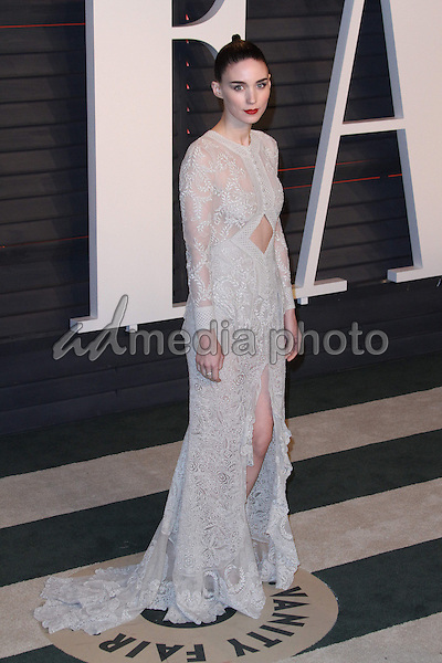 28 February 2016 - Beverly Hills, California - Rooney Mara. 2016 Vanity Fair Oscar Party hosted by Graydon Carter following the 88th Academy Awards held at the Wallis Annenberg Center for the Performing Arts. Photo Credit: AdMedia