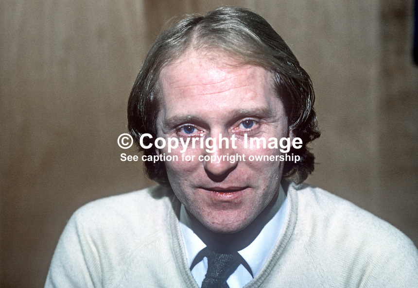 Roy Coyle, manager, Linfield FC, Belfast, N Ireland, January, 1982, 198201000004RC<br />