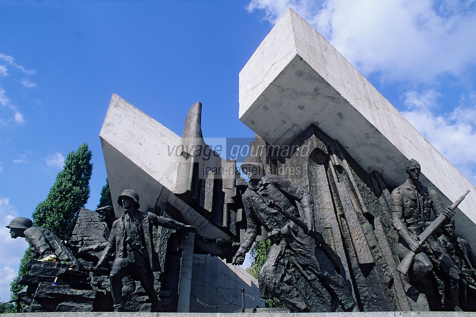 Europe/Pologne/Varsovie : Monument à la mémoire des insurgés de Varsovie